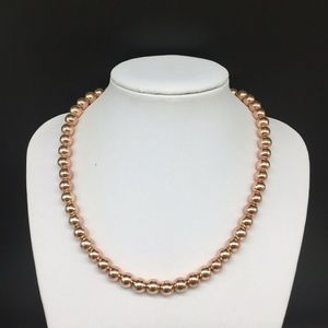 Brooks Brothers Rose Gold Tone Beaded Necklace